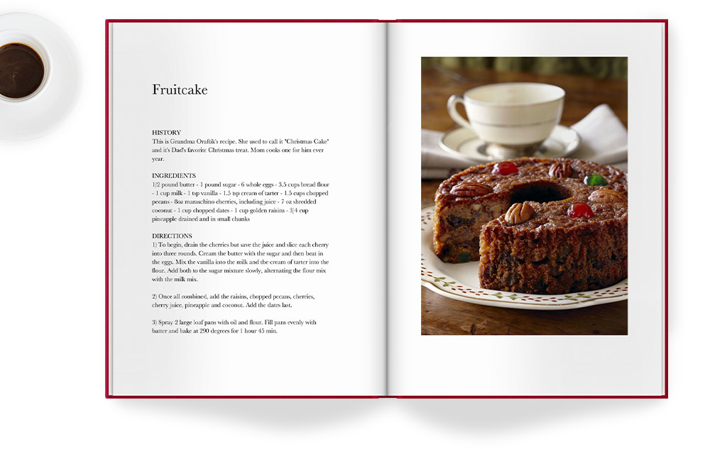 Photo Book with family recipe.