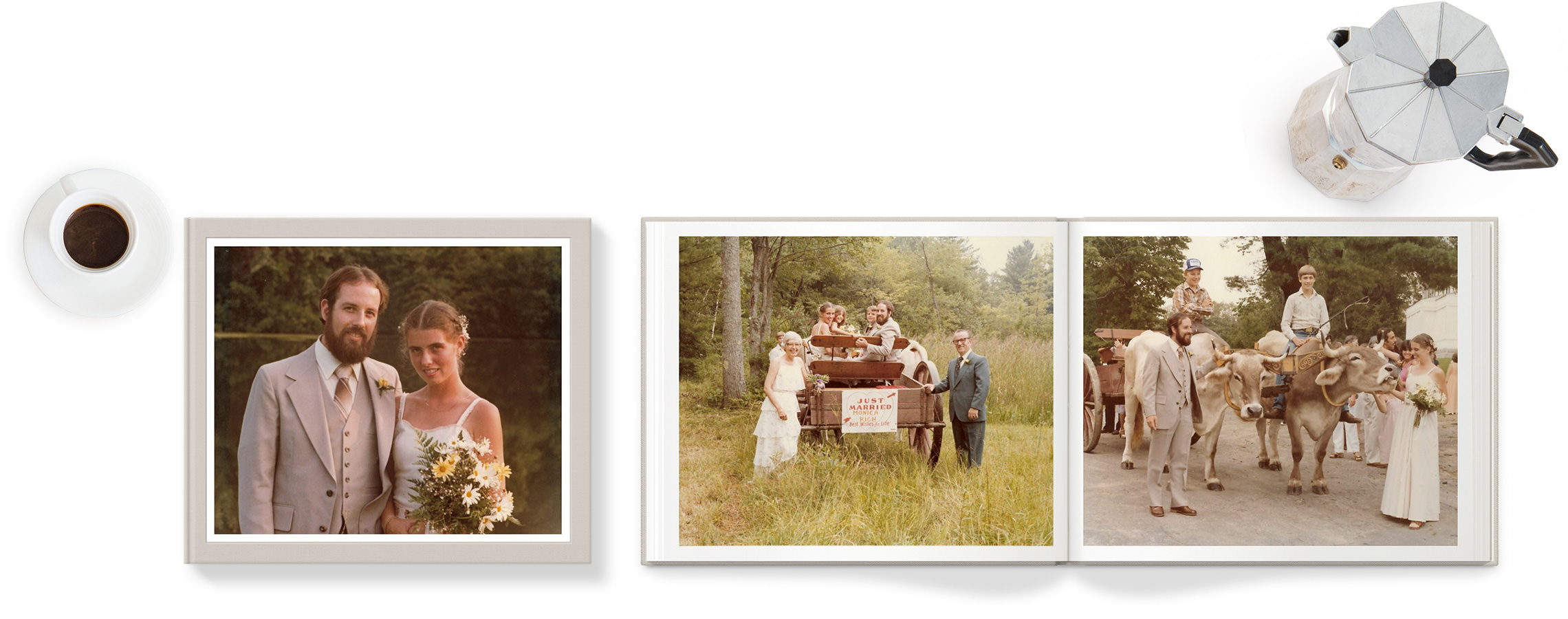 Classic Photo Book with old wedding photos.