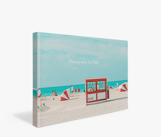 Travel Luxe Softcover Photo Book with cover image of summer day at beach