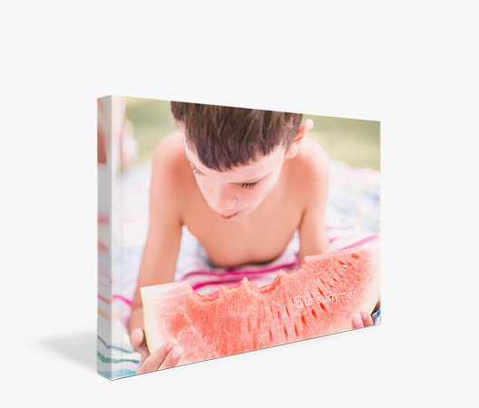 Everyday Luxe Softcover Photo Book with cover image of young boy