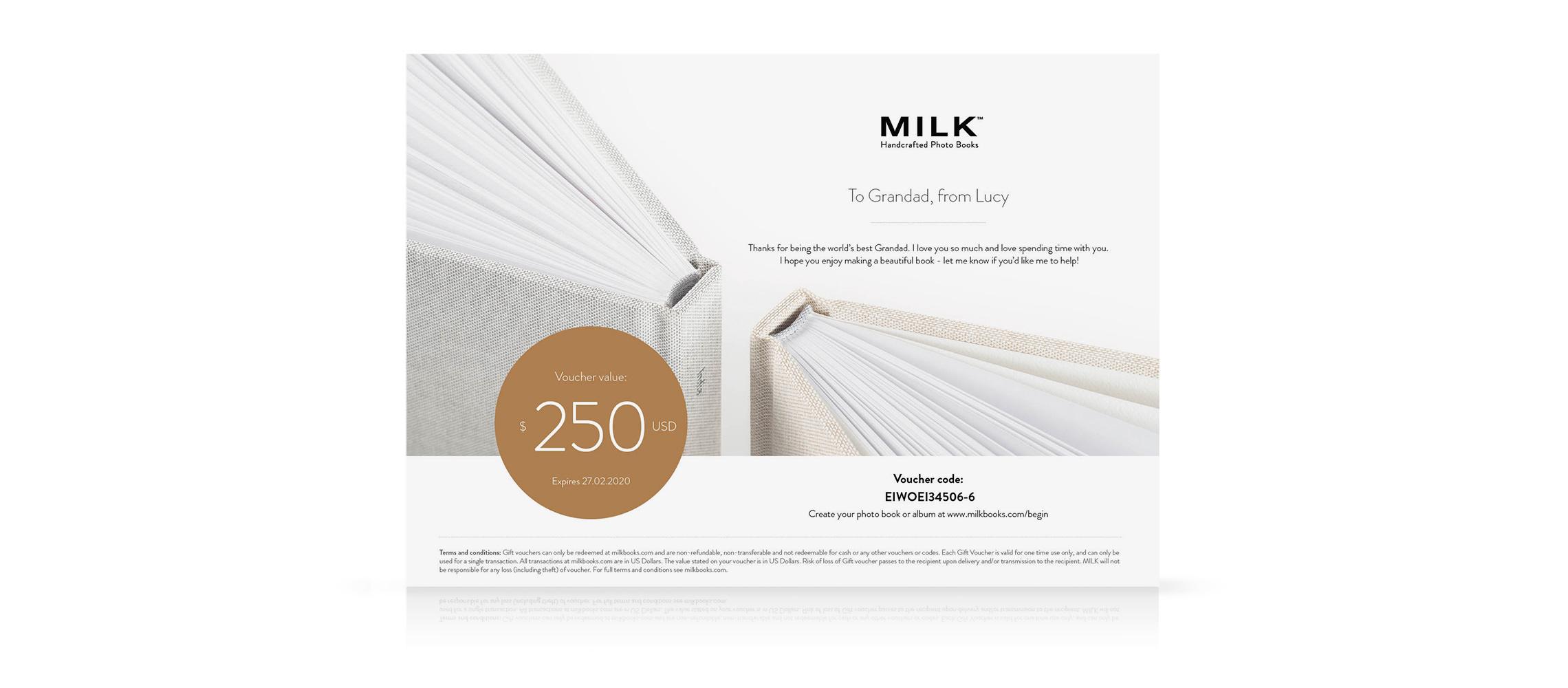 Geschenkgutschein Kreative Geschenke Milk Books