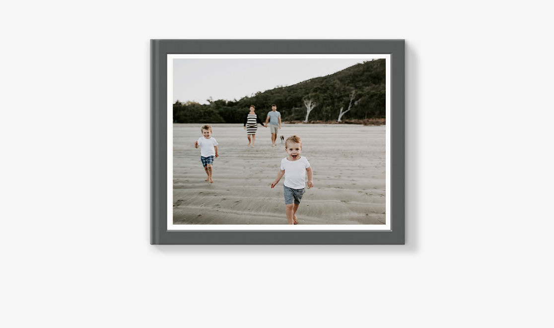 Classic Photo Album with image of family at beach on the cover