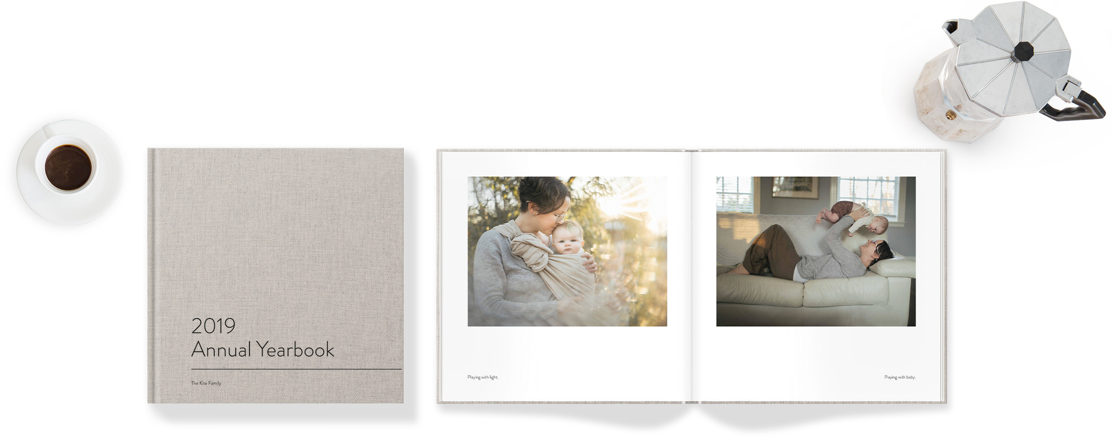 Square Photo Book with family images.