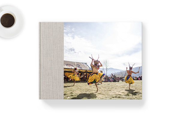 Landscape photo book with travel images.